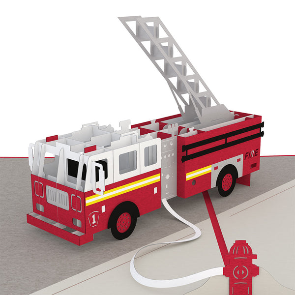 fire truck pop up card lovepop rh lovepopcards com fire truck sound fire truck hersteller