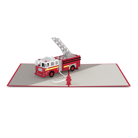 Fire Truck Pop Up Card greeting card -  Lovepop