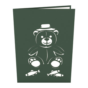 Fishing Bear Pop Up Father's Day Card