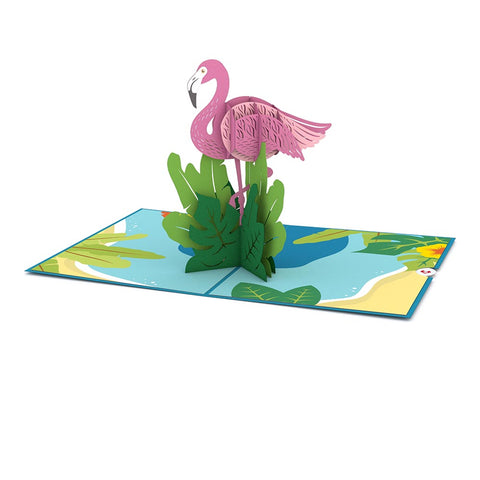 Flamingo Pop up Card greeting card -  Lovepop