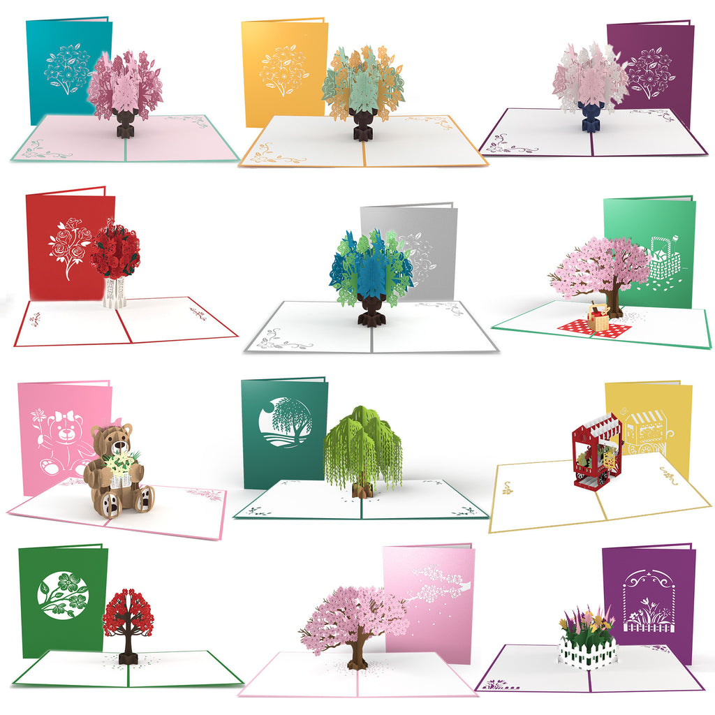 Floral 12 Pack pop up card