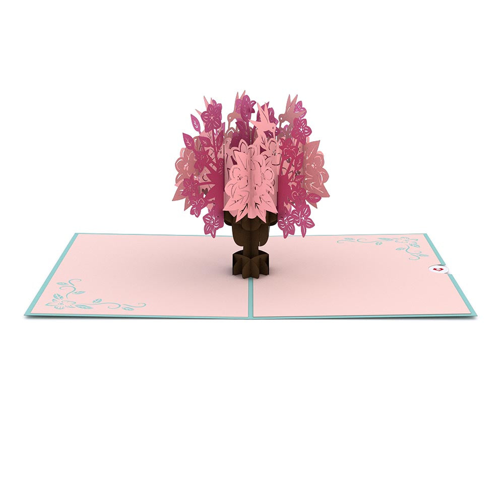 Pink Floral Arrangement             pop up card
