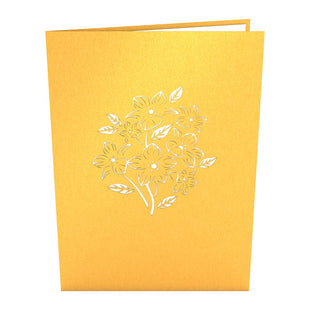 Floral Bouquet Gold Pop up Card