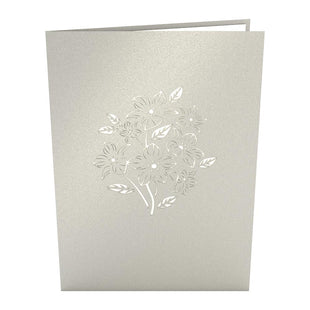 Floral Bouquet Grey Pop Up Mother's Day Card