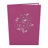 Floral Bouquet Purple birthday pop up card - thumbnail