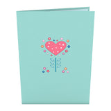 Floral Heart                                   pop up card - thumbnail