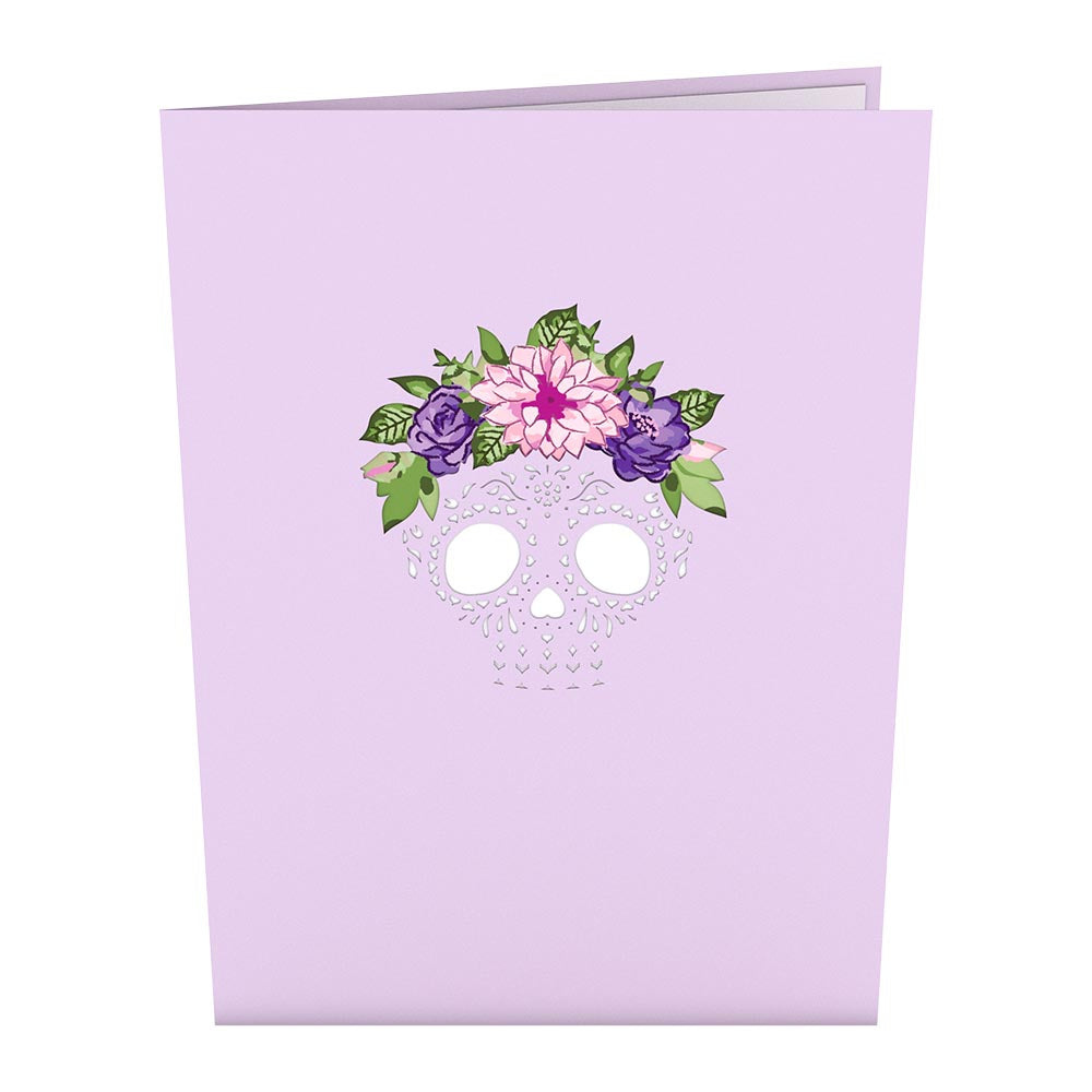 Floral Skull pop up card