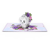 Floral Skull pop up card - thumbnail