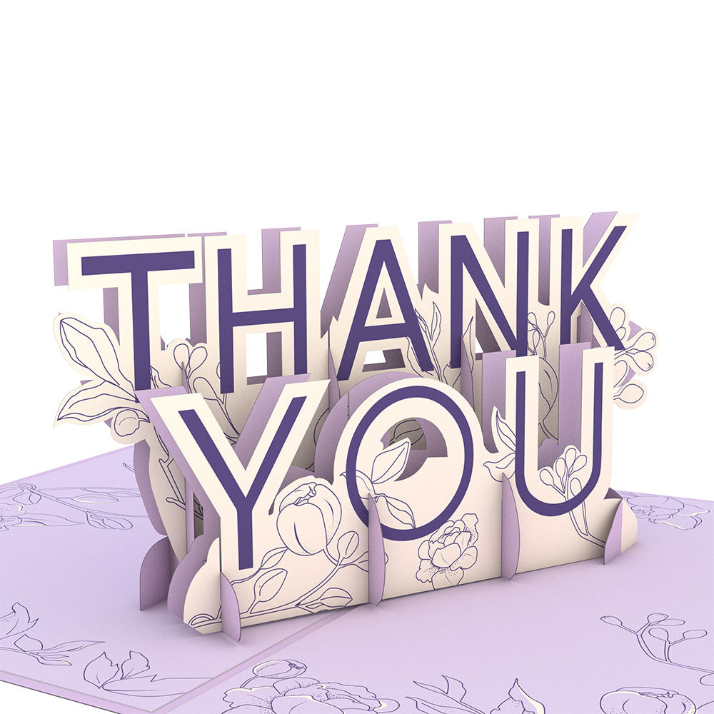 Floral Thank You             pop up card