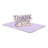 Floral Thank You                                   pop up card - thumbnail
