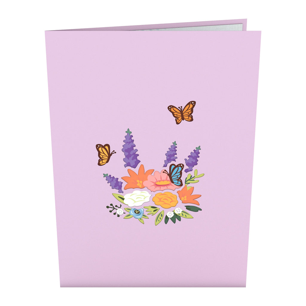 Flower Basket birthday pop up card