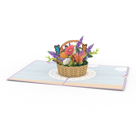 Flower Basket greeting card -  Lovepop