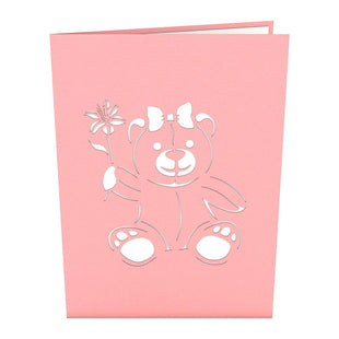 Flower Bear Pop Up Mother's Day Card