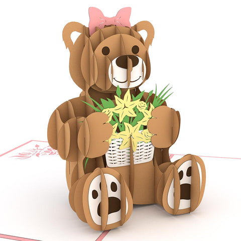 Flower Bear Pop Up Mother's Day Card greeting card -  Lovepop