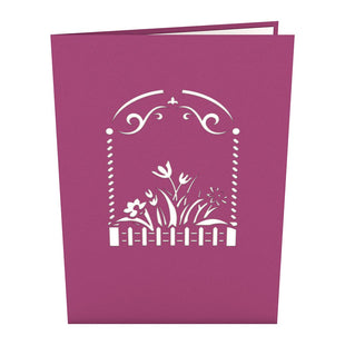 Flower Garden Pop Up Card