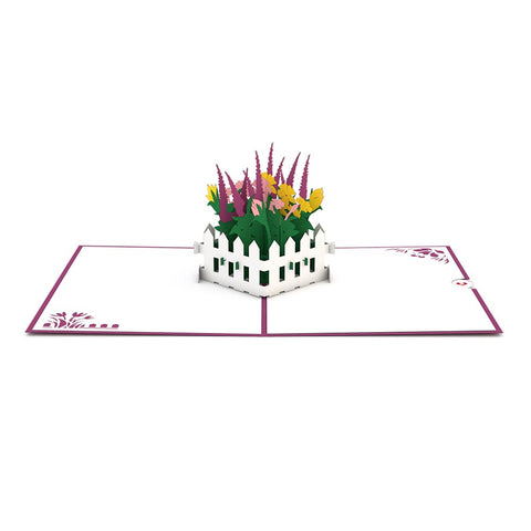 Flower Garden Pop Up Card greeting card -  Lovepop
