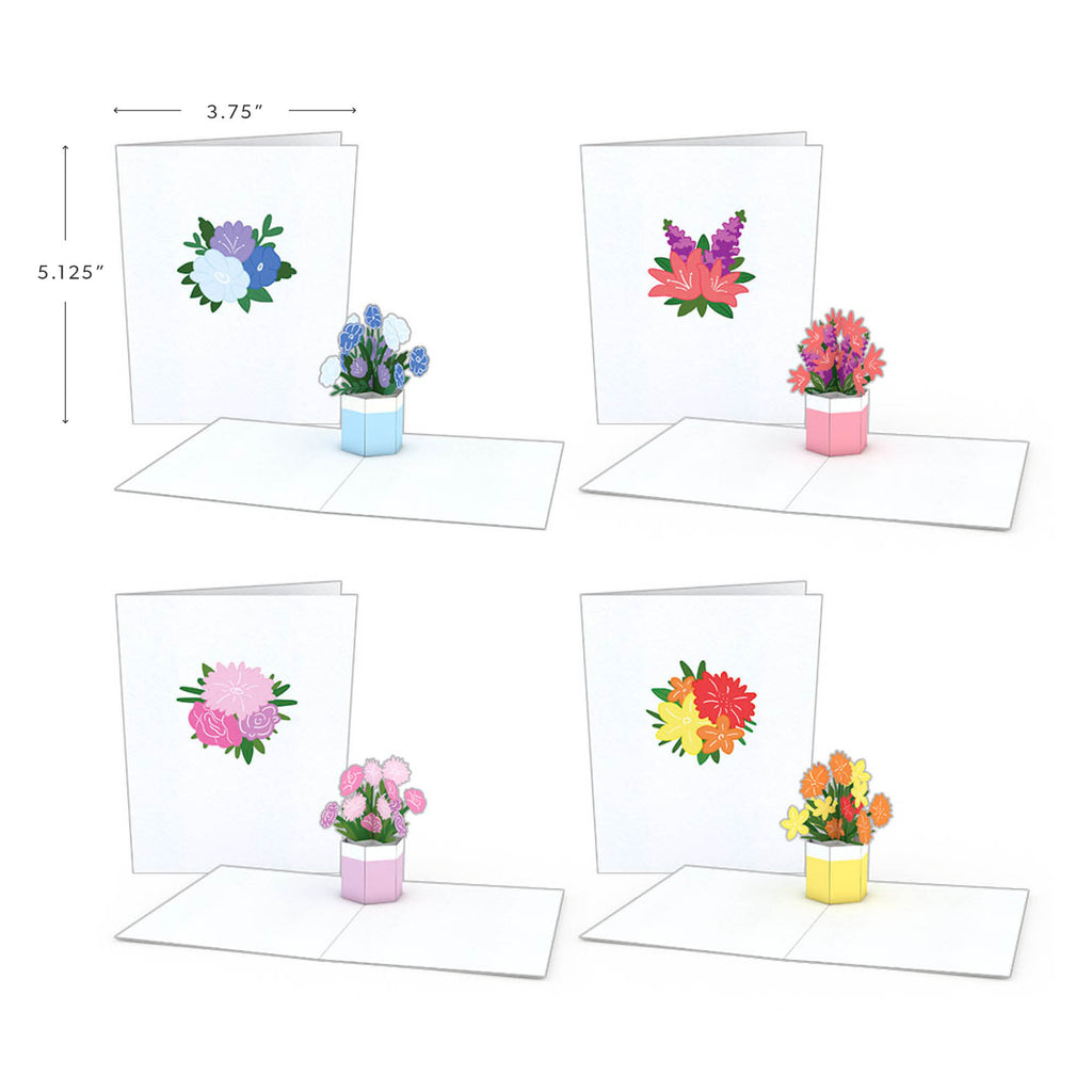Flower Pot Notecards (Assorted 4 Pack)             pop up card