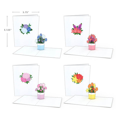 Notecard 4-Pack: Flower Bouquet greeting card -  Lovepop