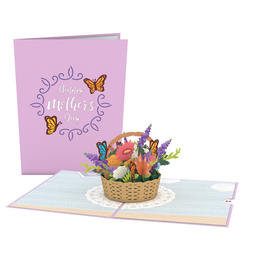 Mother's Day Flowers 3D card