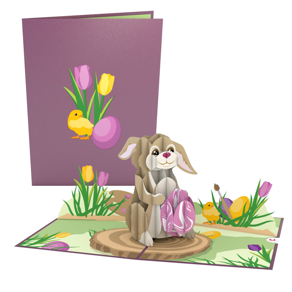 Easter Bunny with Egg             pop up card