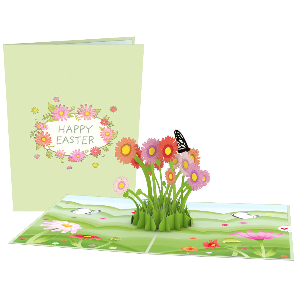Easter Daisy Patch 3D card