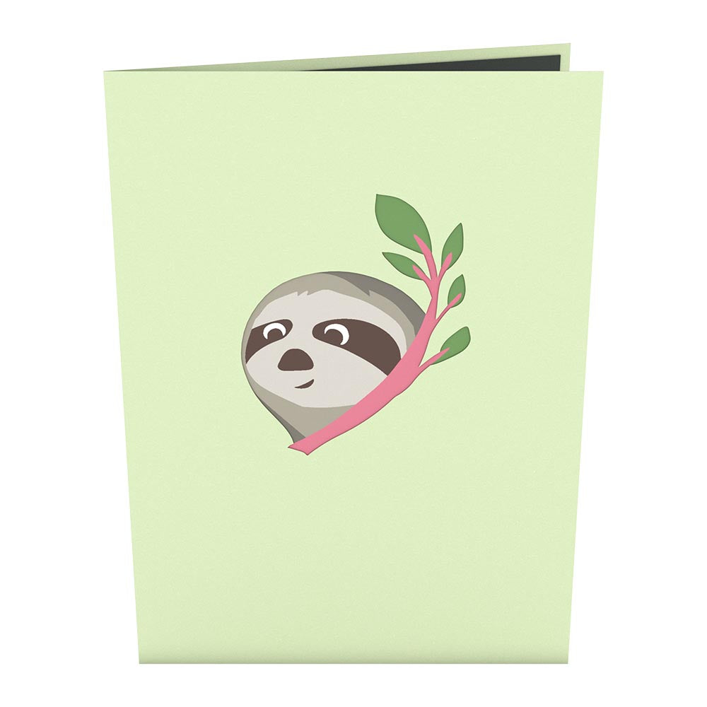 Friendship Sloth             pop up card