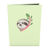 Friendship Sloth pop up card - thumbnail