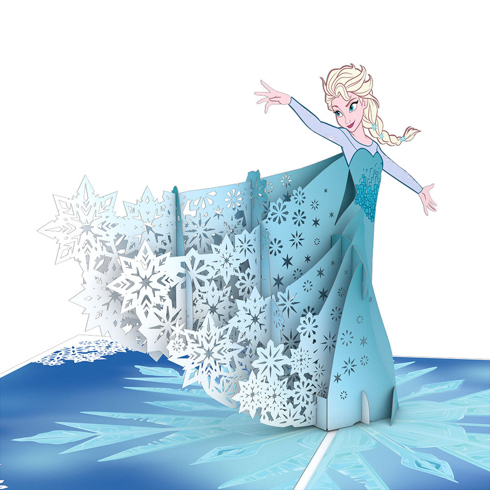 Disney Frozen Elsa                                             birthday                            pop up card