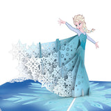 Disney Frozen Elsa                                                          birthday                                                     pop up card - thumbnail