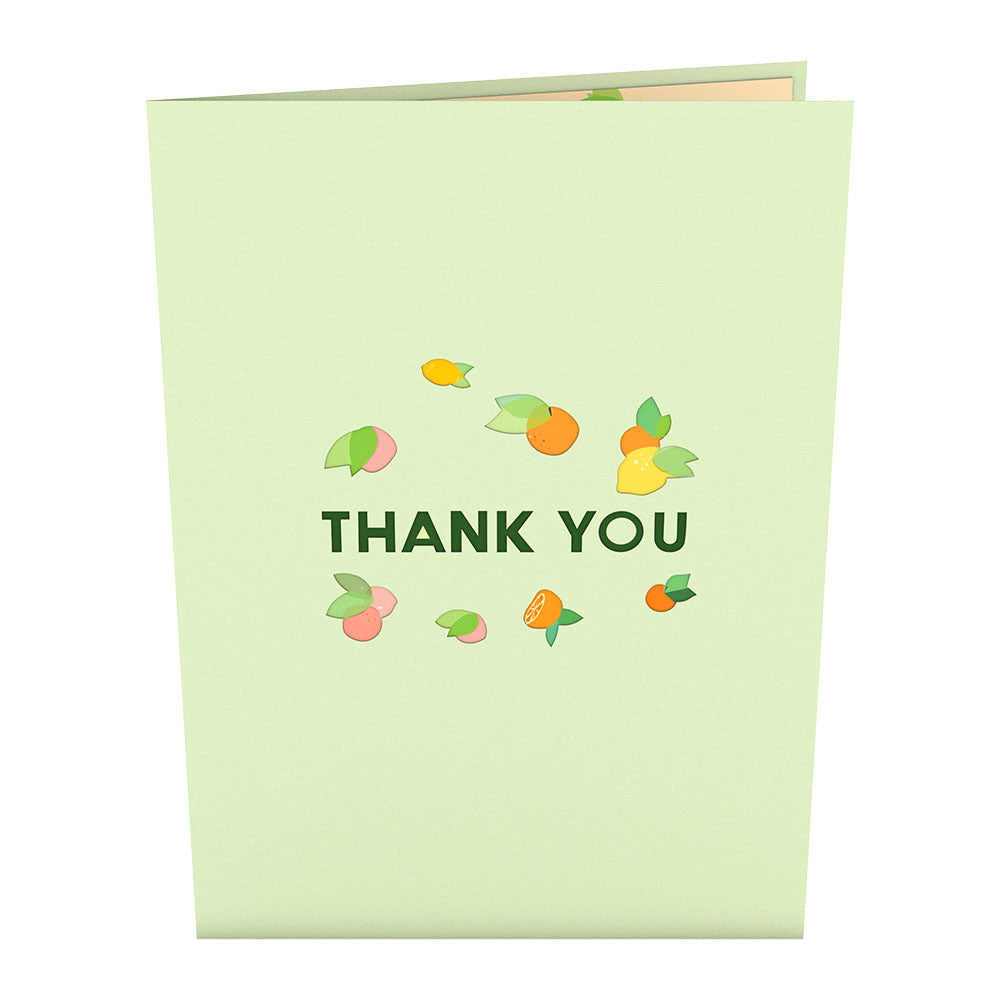 Fruity Thank You             pop up card