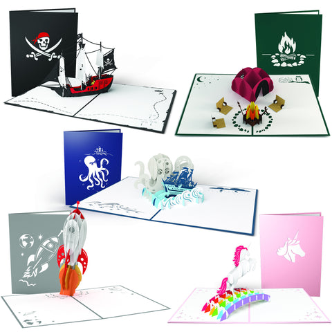 Fun Pop-up Card 5 Pack greeting card -  Lovepop