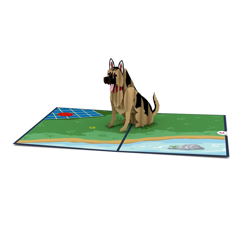 German Shepherd             pop up card