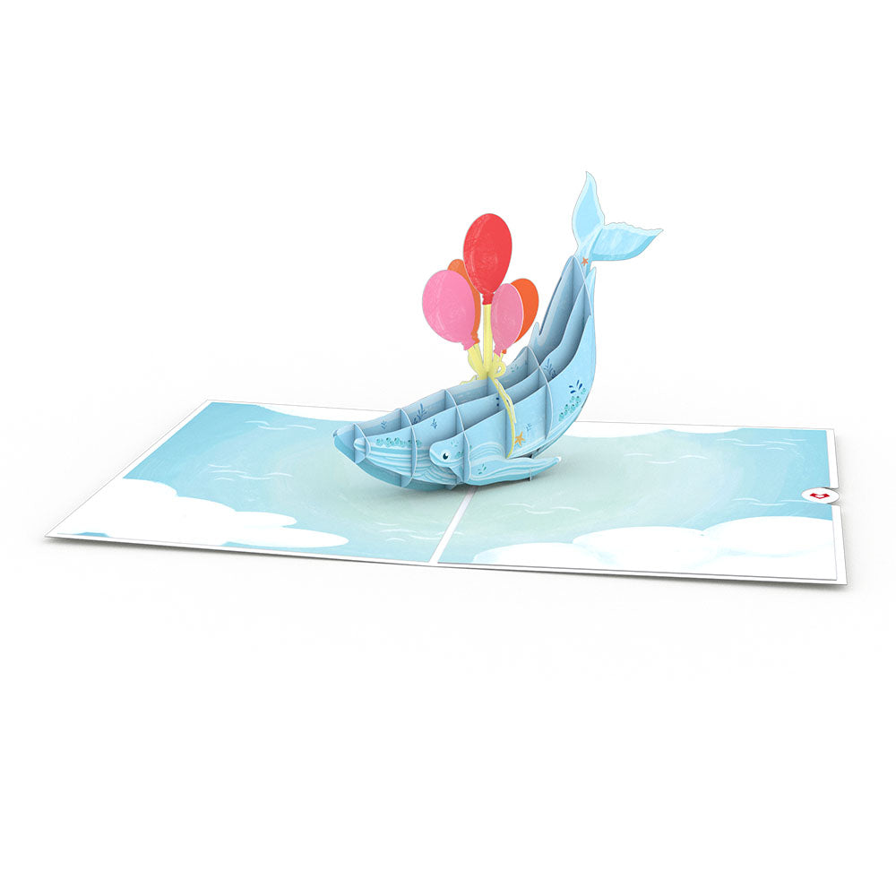 Get Well Whale             pop up card