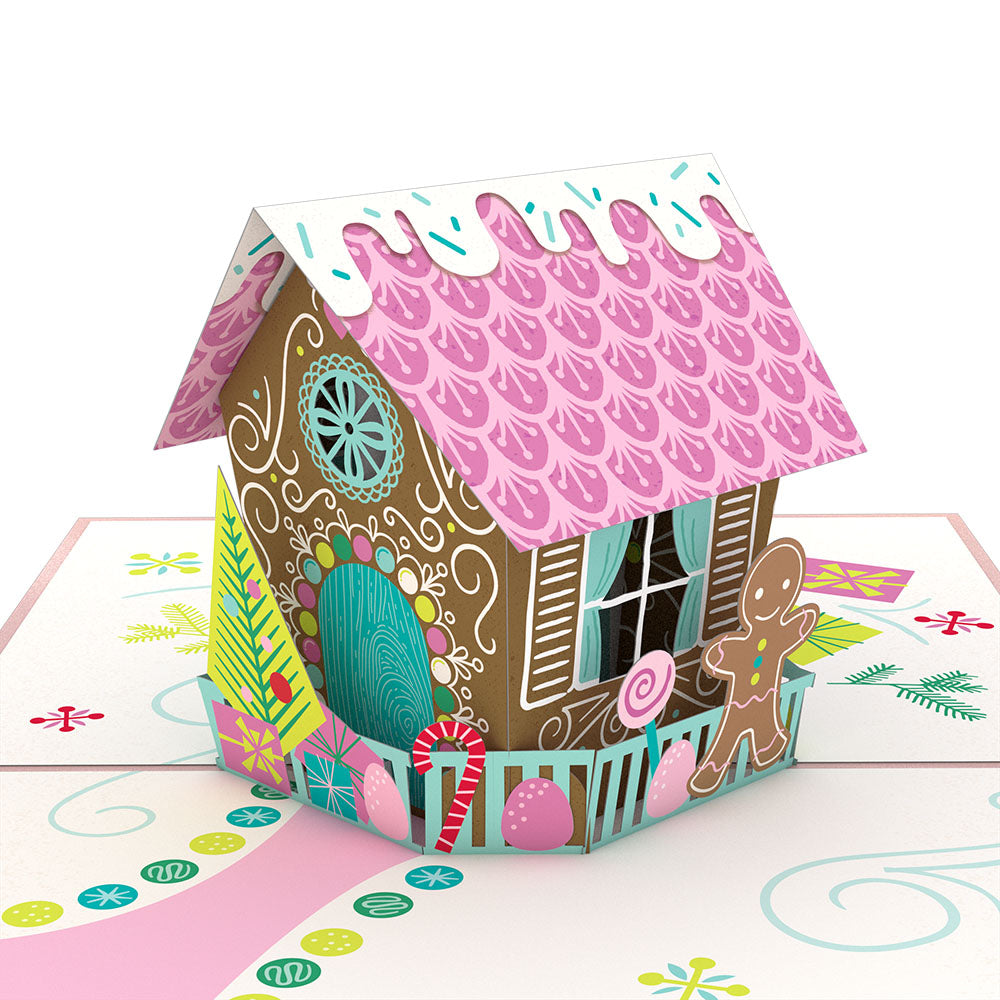 Gingerbread House Classic 3D card