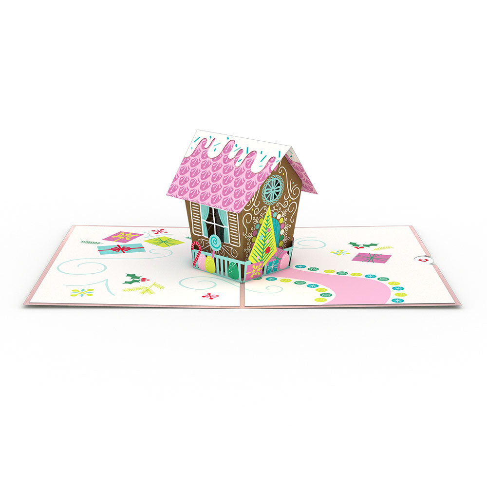Gingerbread House Classic             pop up card