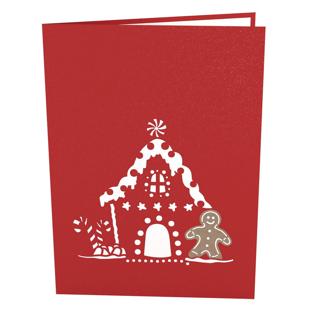 Gingerbread House Pop Up Christmas Card - Lovepop