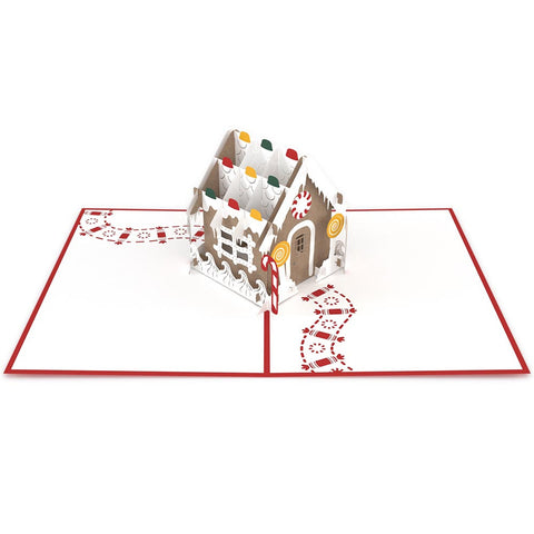 Gingerbread House Pop Up Christmas Card greeting card -  Lovepop