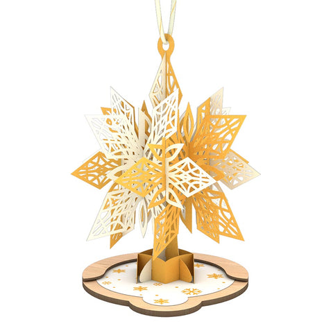 Gold Snowflake Ornament greeting card -  Lovepop