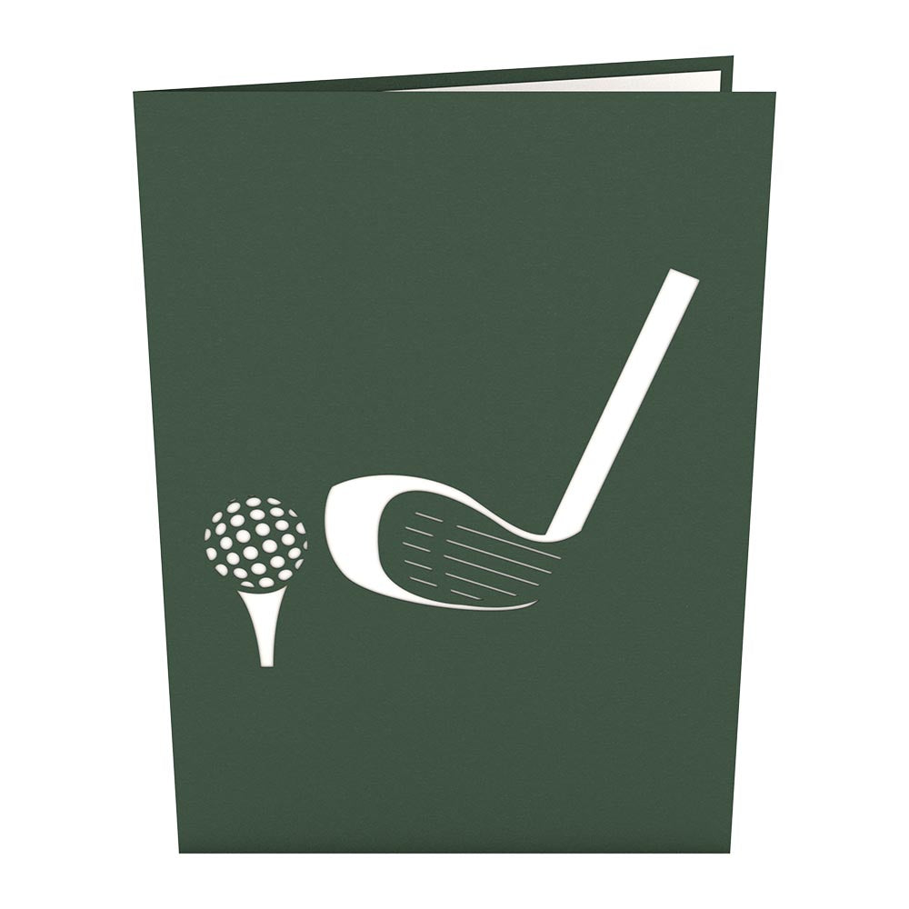 Golf Ball                                             birthday                            pop up card