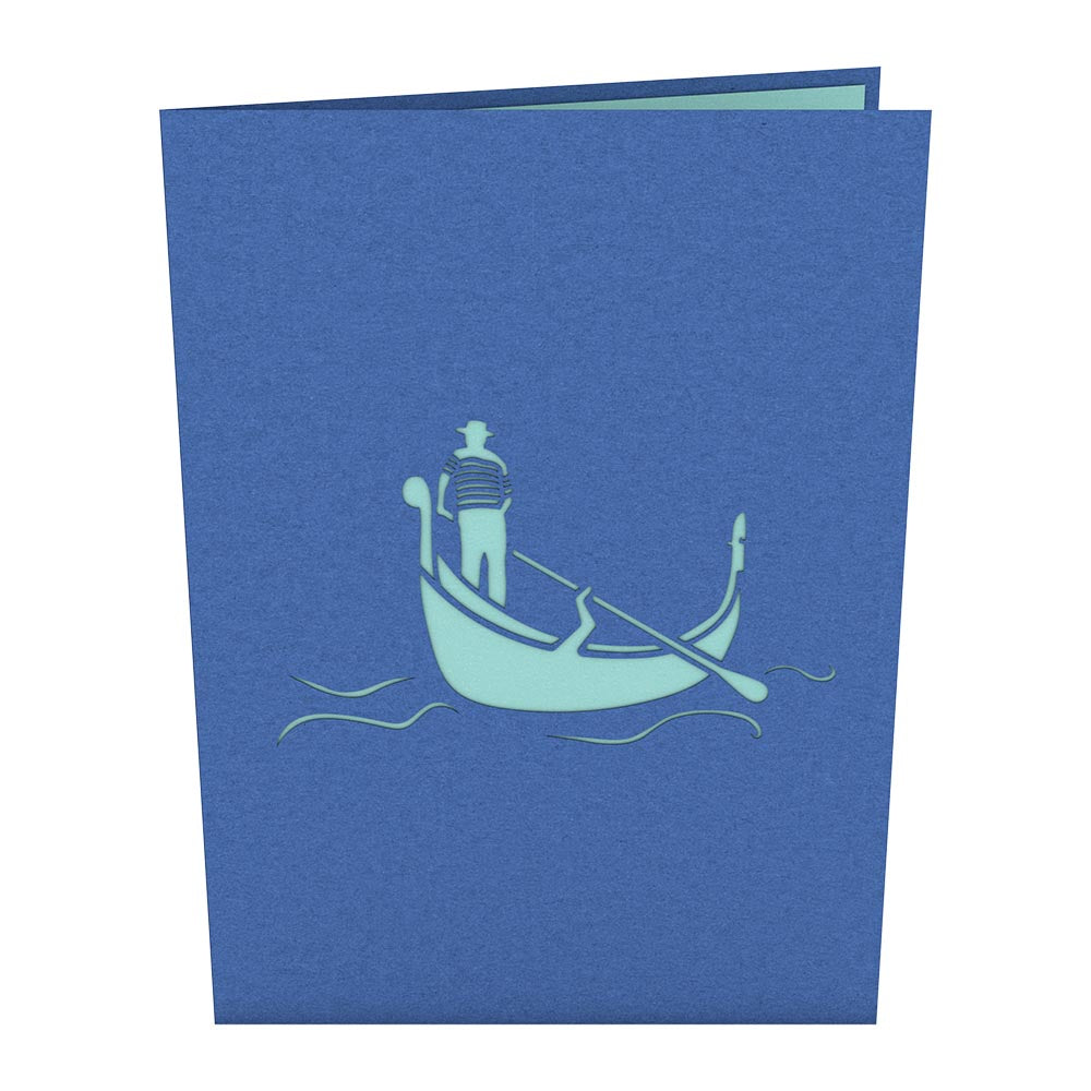 Gondola Love Scene             pop up card