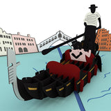 Gondola Love Scene                                   pop up card - thumbnail