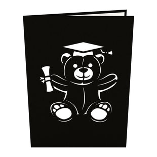 Graduation Bear Pop Up Card