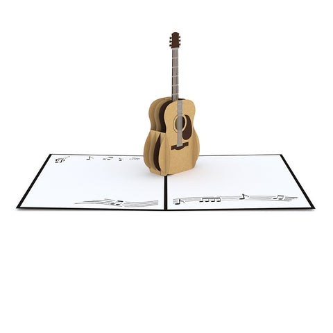 Acoustic Guitar Pop Up Card greeting card -  Lovepop