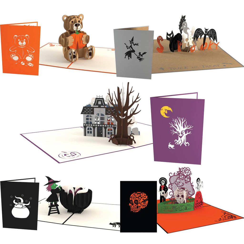 Halloween 5 Pack pop up card