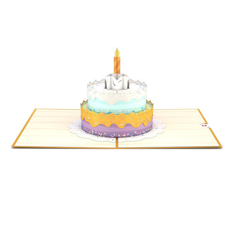 Happy Birthday Cake Pop up Card greeting card -  Lovepop