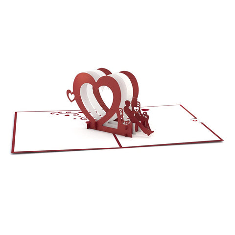 Heart Bench Pop Up Valentine's Day Card greeting card -  Lovepop