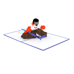 Hockey Player Pop Up Card greeting card -  Lovepop