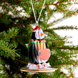 Holiday Penguin Ornament                                   pop up card - thumbnail