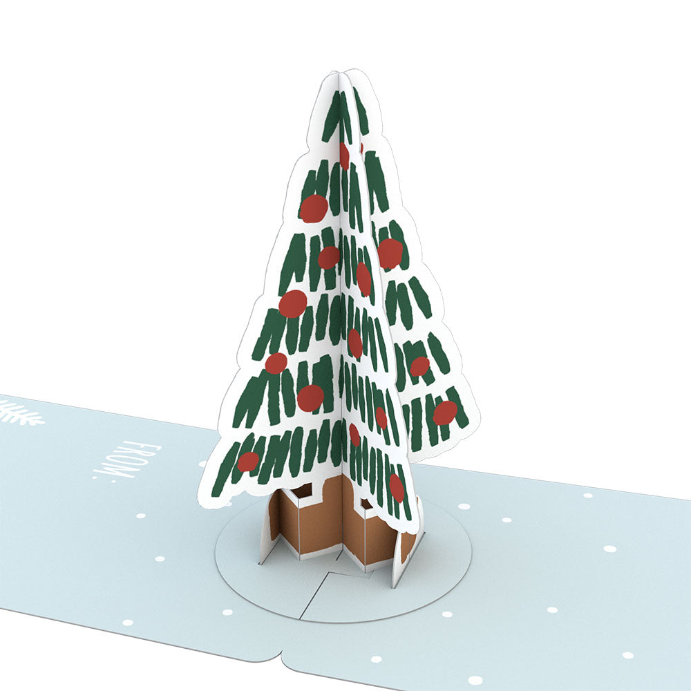 Gift Tag 4-Pack: Holiday Tree             pop up card