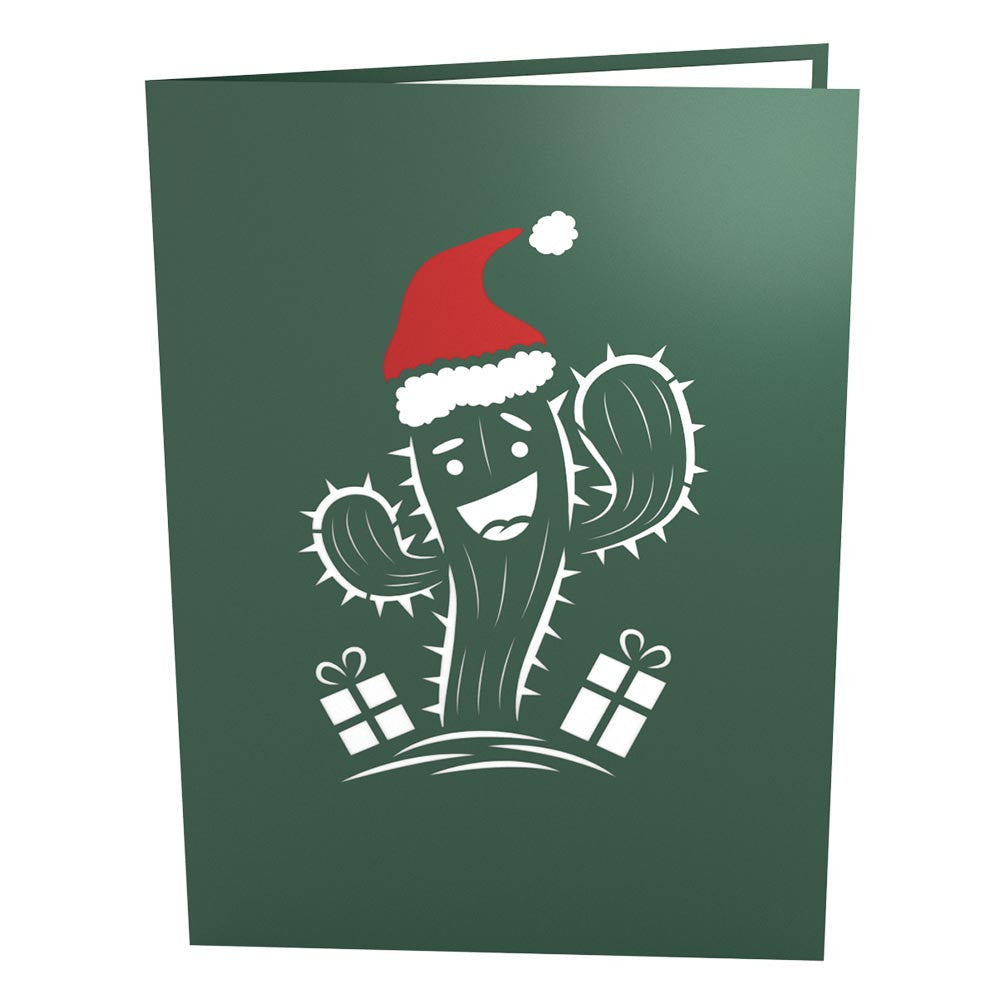 Holiday Cactus pop up card